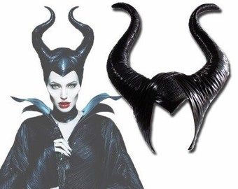 UK MALEFICENT MOVIE ADULTS KIDS FANCY DRESS UP HALLOWEEN COSPLAY COSTUME HORNS 1