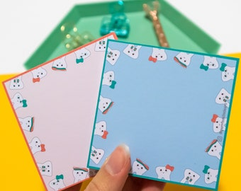 Personalized Teeth memo pad Tear off notepad Gift for Hygienist Dental memo pad