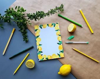 Notebook 'Lemons' | A5 | Notepad | Stationery | To Do List | Notepad
