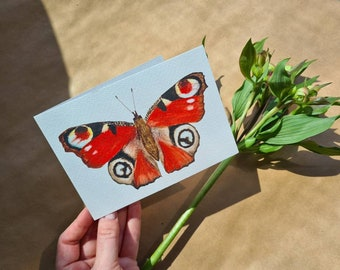 Greeting card 'Dagpauwoog' | Butterfly | Greeting cards | Birthday card | Compassion | Watercolor print