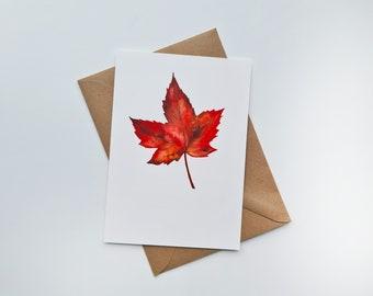 Greeting card 'Maple' | Maple | Autumn | Autumn | Sheet | Tree | Watercolor print