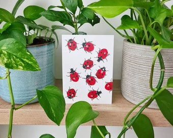 Greeting card 'Ladybug' | Ladybug | Insects | Greeting cards | Watercolor print