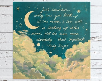 Andy Dwyer Night Sky Parks And Recreation Quote Art Print
