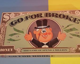 """Vintage Board Game """"GO FOR BROKE"""" 1965 100% Complete"""