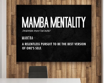 Mamba Mentality Canvas Framed 0.75in Printing in US NEW