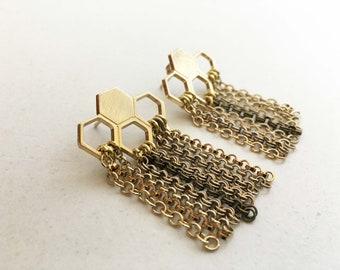GEOMETRIC EARRINGS with hexagons