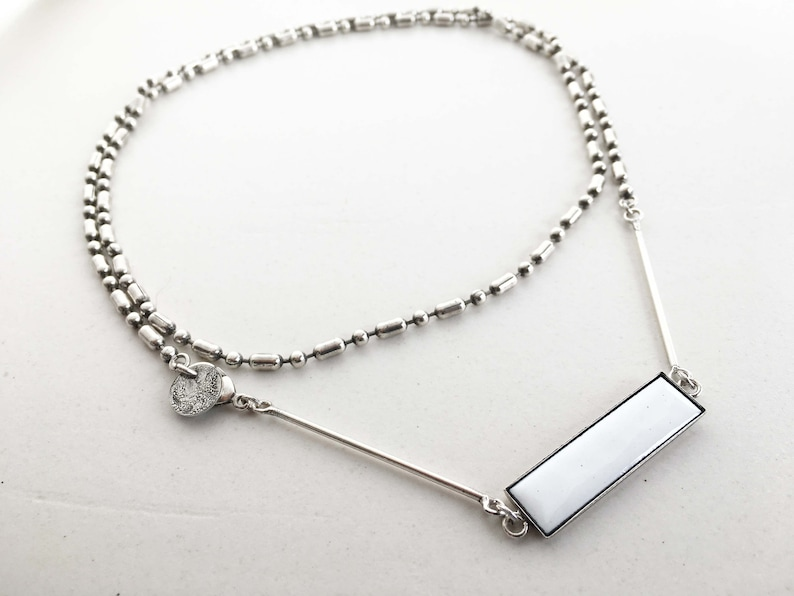 Multi wearing NECKLACE in ANTIQUE SILVER treatment  image 0