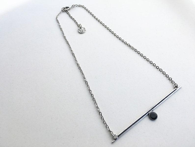 Adjust CHOKER NECKLACE with handmade GEOMETRIC pendant image 0
