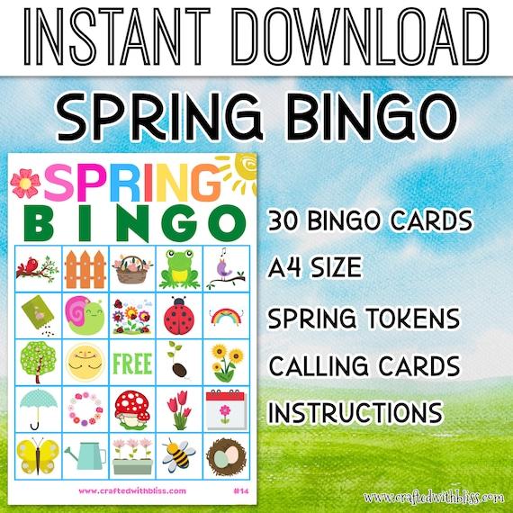 Spring Bingo For Kids Spring Bingo Birthday Party Classroom