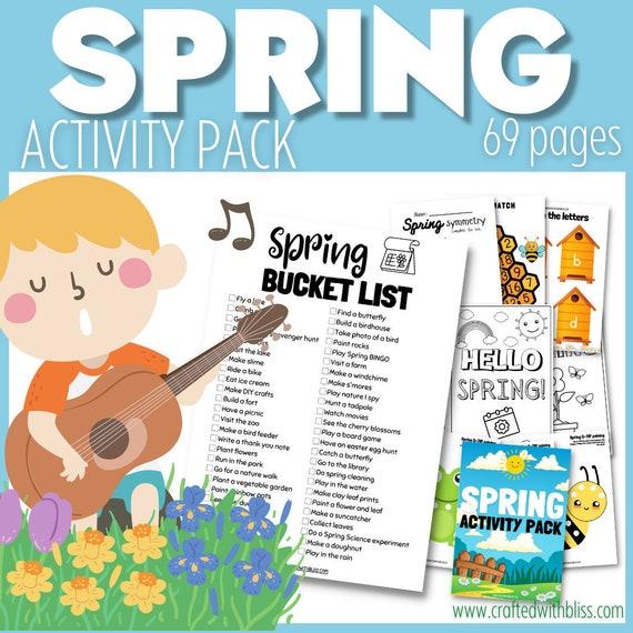 Spring Printable for kids Spring Bucket List
