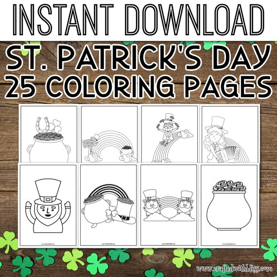 St. Patrick's Day Coloring Pages St. Patrick's Day