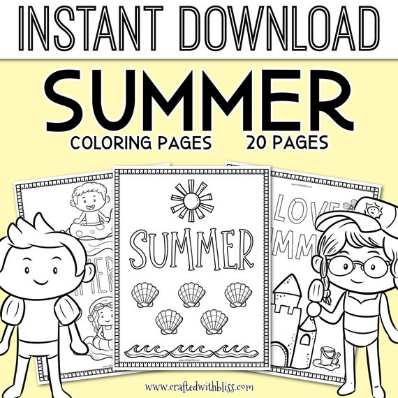 Summer Coloring Pages Summer Coloring Printable Coloring