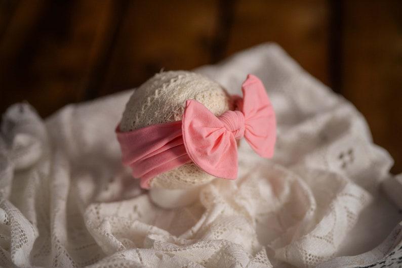 Different colours Newbornsitter headband Photography prop headband bow