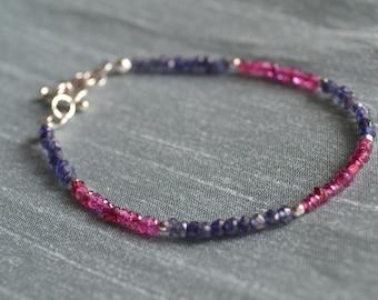 Garnet and Iolite Bracelet