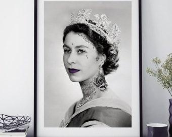 Queen Tattoo Art Print