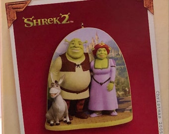 Hallmark keepsake ornament 2005 Shrek and Princess Fiona