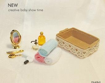 3Pcs Mini Toilettenpapier Tissue 1:12 Puppenhaus Miniatur Badezimmer Dekor