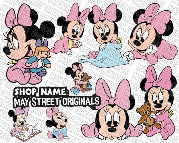Baby Minnie Svg Minnie Svg Minnie Mouse Svg Minnie Mouse Etsy
