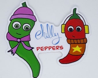 Vinyl Chilly Hot Chili Peppers Sticker