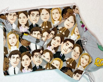 The Office Zipper Pouch Wristlet and Face Mask Set