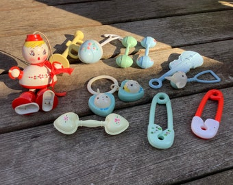 shc*** Baby Rattle, Small Baby Rattle, Vintage Baby Toys, :