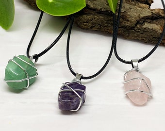 crystal necklace wire wrap