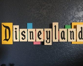 Vintage Disneyland Entrance Sign Without Flags