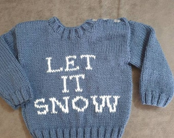 Hand knitted jumper age 0/6 months