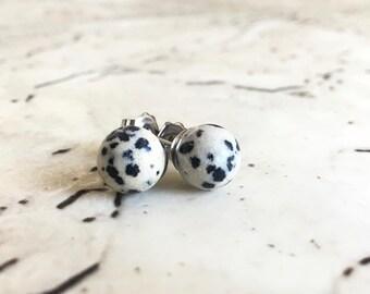 42mm Black Jasper Pair Natural Gemstone Supply For Handmade Earrings Jewelry DJ-022