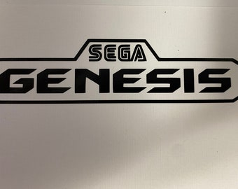 Sega Genesis Vinyl Sticker logo