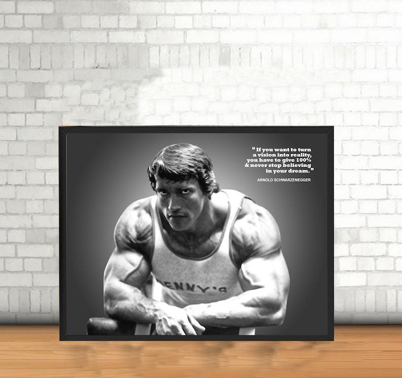 Arnold Schwarzenegger poster canvas Wall Art Decor for Gym ...