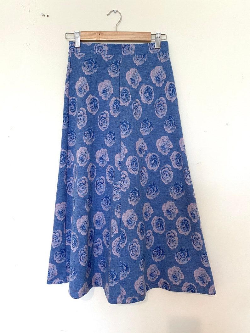 Vintage Y2k Psychedelic LSD Rose Cotton Skirt Size S M