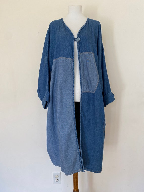 Kimono Style Denim Duster Coat