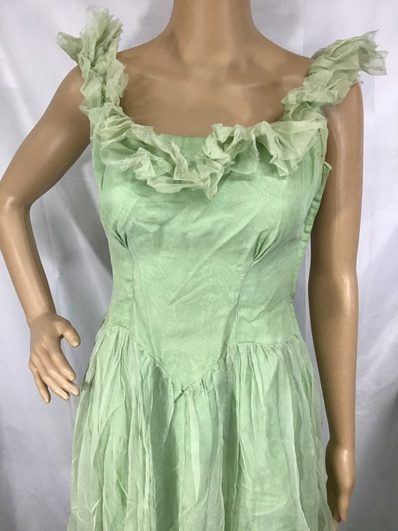 1930s Evening Gown Dress/ True Vintage 30s  Dress/