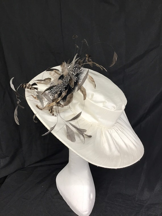 Lady Diana Feather Brim Hat Ivory ,Stunning Hat, … - image 2
