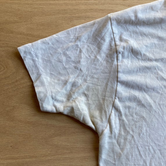 Vintage 70s Blank and Stained White T-Shirt - image 5