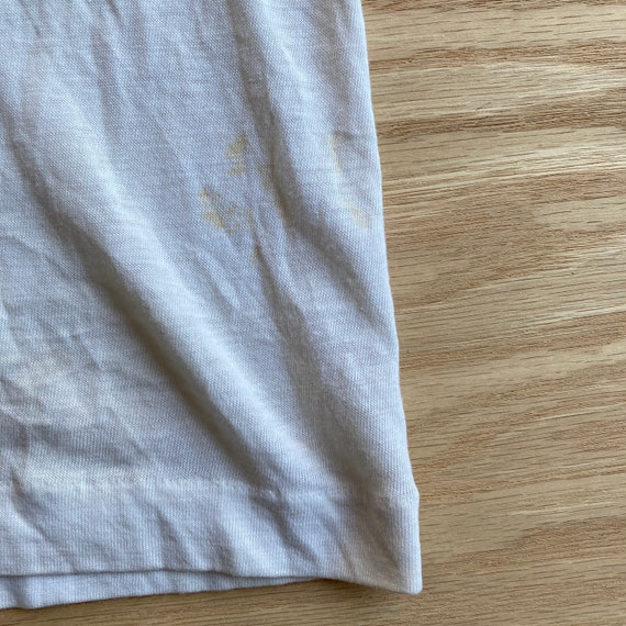 Vintage 70s Blank and Stained White T-Shirt - image 8