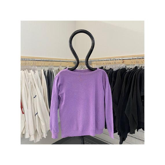Vintage 70s/80s Purple Boatneck Sweatshirt