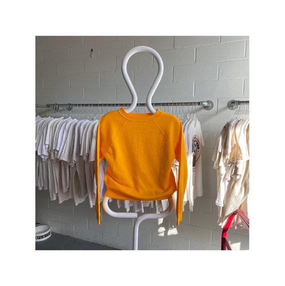 Vintage 80s Marigold Yellow Raglan Sweatshirt