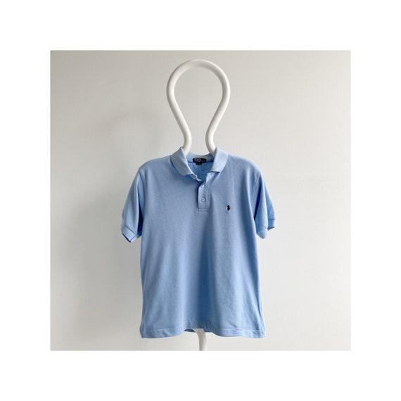 Vintage 80s/90s Ralph Lauren Polo - Baby Blue/Cot… - image 1