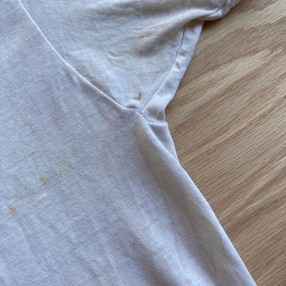 Vintage 70s Blank and Stained White T-Shirt - image 6