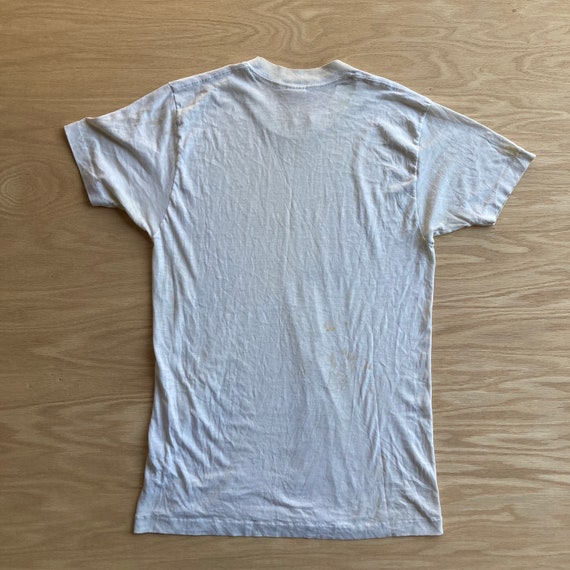 Vintage 70s Blank and Stained White T-Shirt - image 9