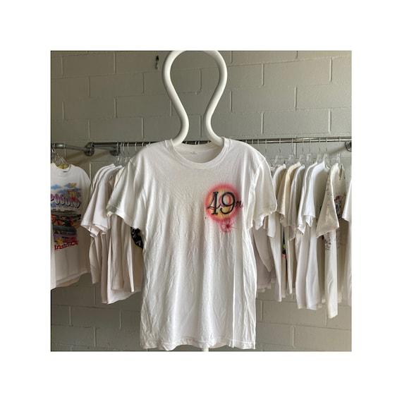 Vintage 80s 49ers Airbrush Montana T-Shirt - image 1