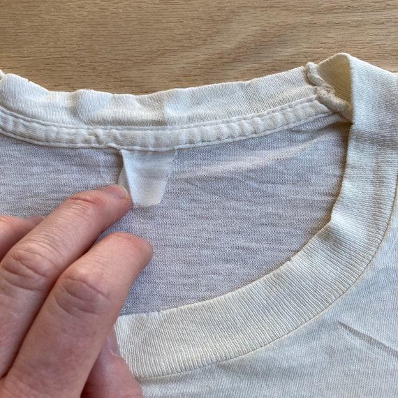 Vintage 90s Blank White T-Shirt - image 2