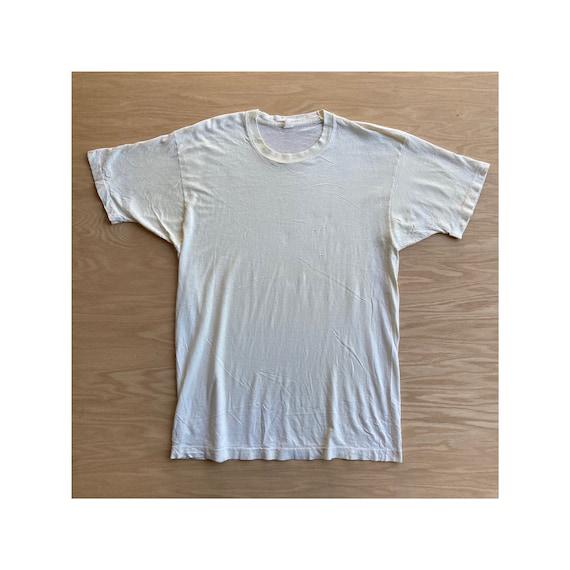 Vintage 90s Blank White T-Shirt - image 1