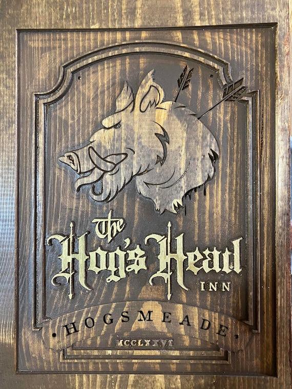 Hogs Head inn T-Shirt Harry potter inspired Printed  Mens