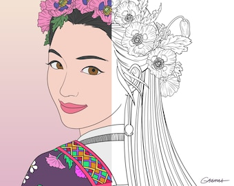 24 Best hmong coloring book images | Coloring books, Adult ... | 270x340