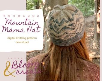 Mountain Mama Hat // Colorwork Knitting Pattern