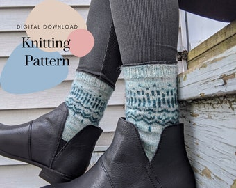 Knitting Sock Pattern - Stronger Than The Storm