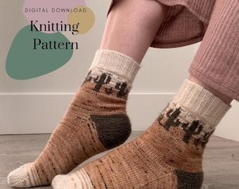 Comfy Cacti Sock Pattern